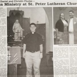Daniel and Christin Flucke Begin Ministry at St. Peter Lutheran Church