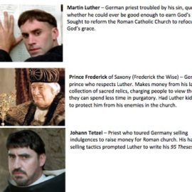 Character Guide for 2003 Luther Movie