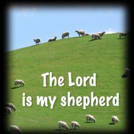 October 15, 2017, Sermon on Psalm 23